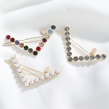 CHIMERA Simple Metal Hair Pin V Shape Clips Pearl Crystal Hairgrips Ins Fashion Accessories for Women Girls Barrettes
