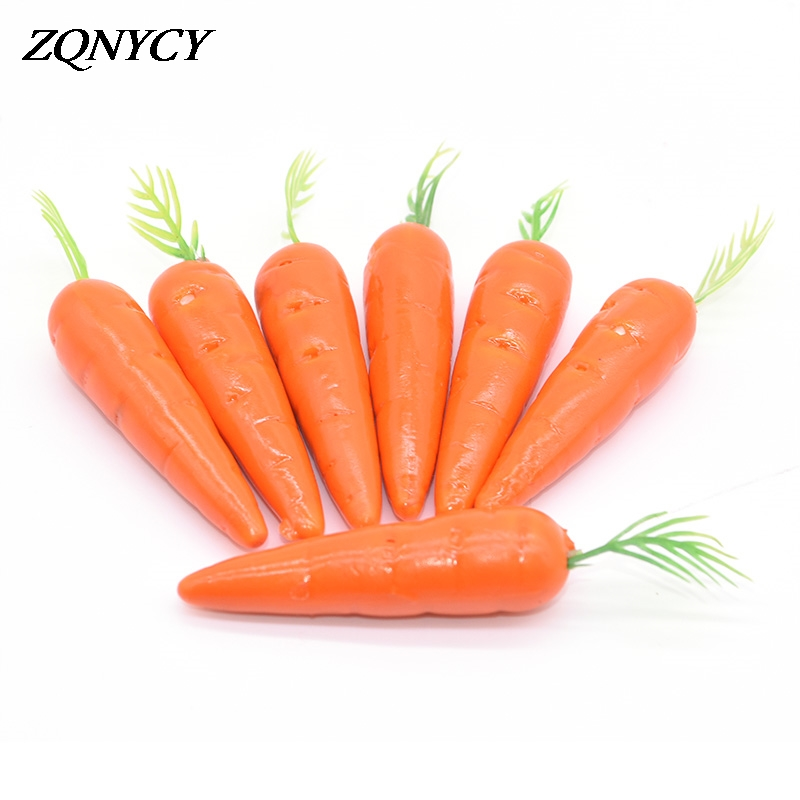 25/50pcs 8cm Carrots Mini Artificial Plastic Foam Carrot Fake Fruit And Vegetable For Wedding Christmast Easter Party Decoration