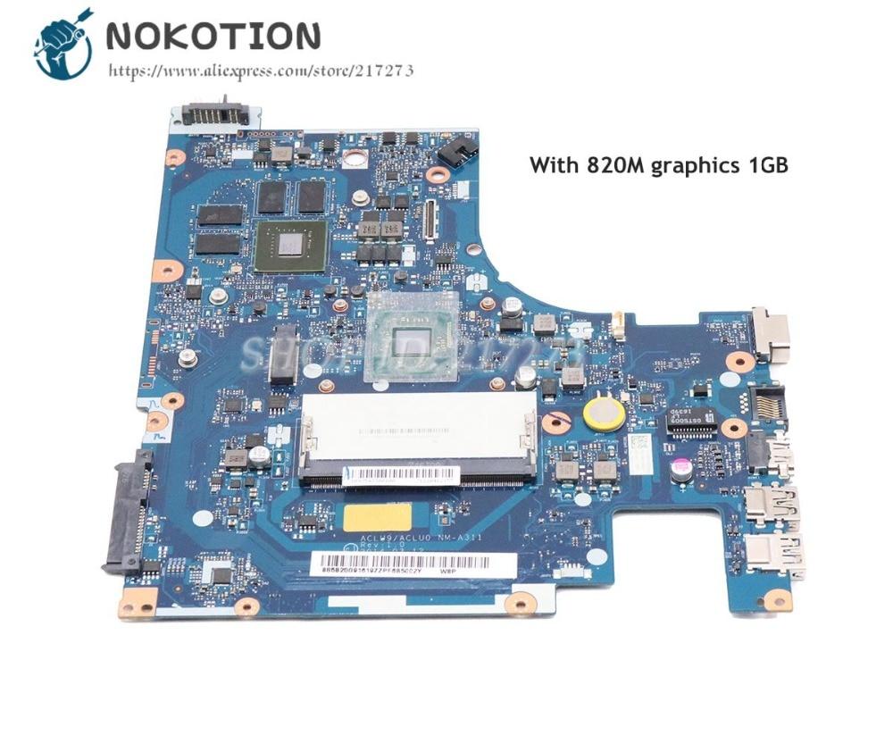 NOKOTION Per Lenovo G50-30 Scheda Madre Del Computer Portatile DDR3 820 m 1 gb con Processore a bordo ACLU9/ACLU0 NM-A311 5B20G91619NOKOTION Per Lenovo G50-30 Scheda Madre Del Computer Portatile DDR3 820 m 1 gb con Processore a bordo ACLU9/ACLU0 NM-A311 5B20G91619