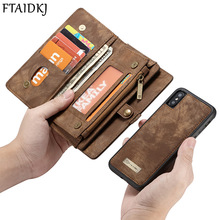 PU Leather Wallet Card Bag For iPhone XS Max XR X 7 6 6S 8 Plus Filp C