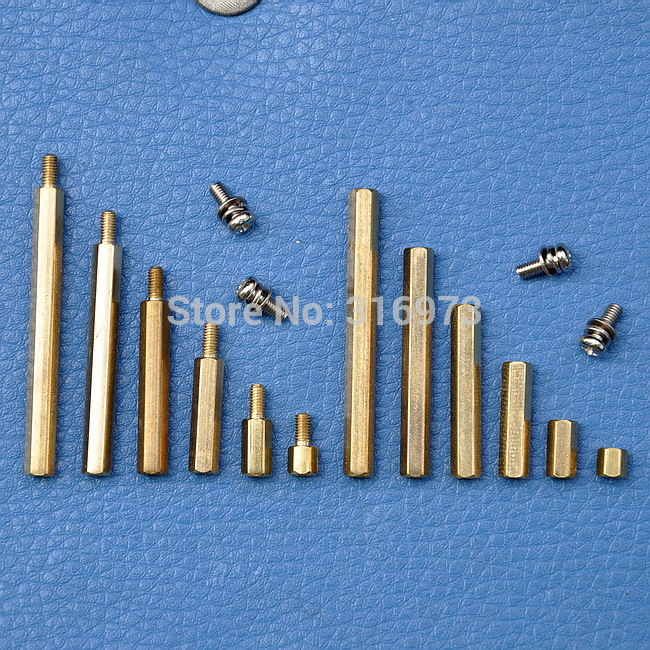 Brass Hex Stand-Off Pillars and Screw Assorted Kit
