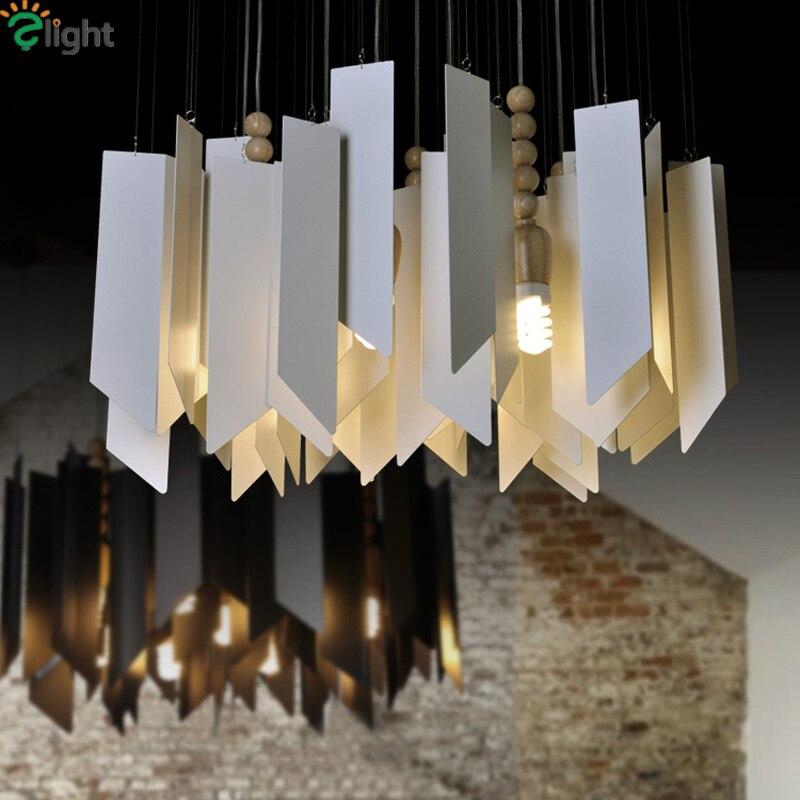 Moderno Campanelli Eolici Led Luci a Sospensione Lampadario In Metallo Sala da pranzo Ha Portato Lampadari Apparecchi di Illuminazione Soggiorno Hanging Light