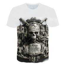 2019 new cool summer skeleton 3D printed short-sleeved T-shirt casual breathable season hip fashion brand
