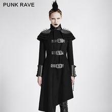 New Casual Fashion Black Gothic Steampunk Arwen Visual Kei Victorian Vintage Winner Long Coat