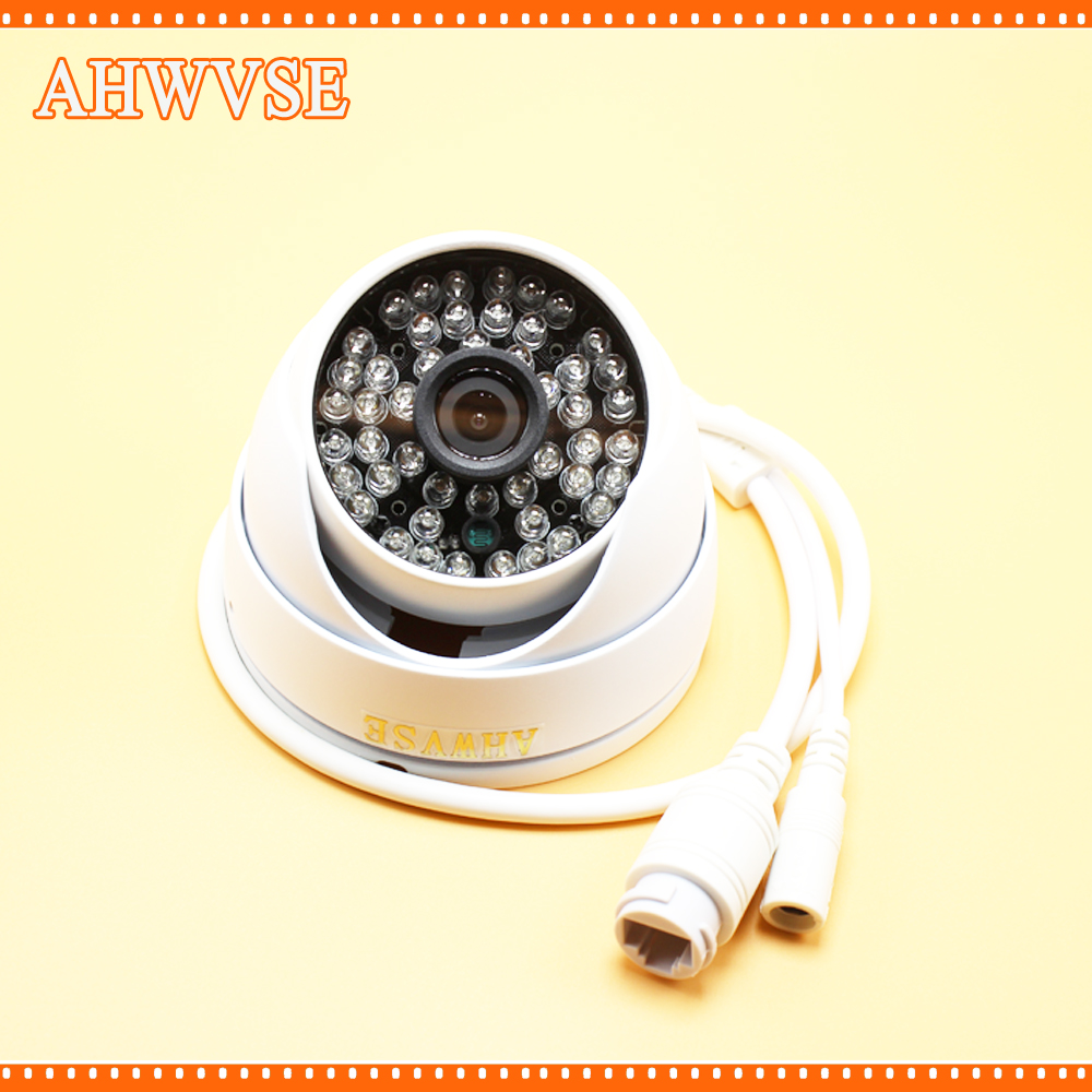 AHWVSE HD 2.0MP 1080P POE IP Camera ONVIF P2P In/outdoor Metal Dome Security 48IR 720P POE IP CAM 960P 4Pcs poe audio hd 1 3mp 960p outdoor ir network ip camera 36 ir security onvif 2 1 p2p