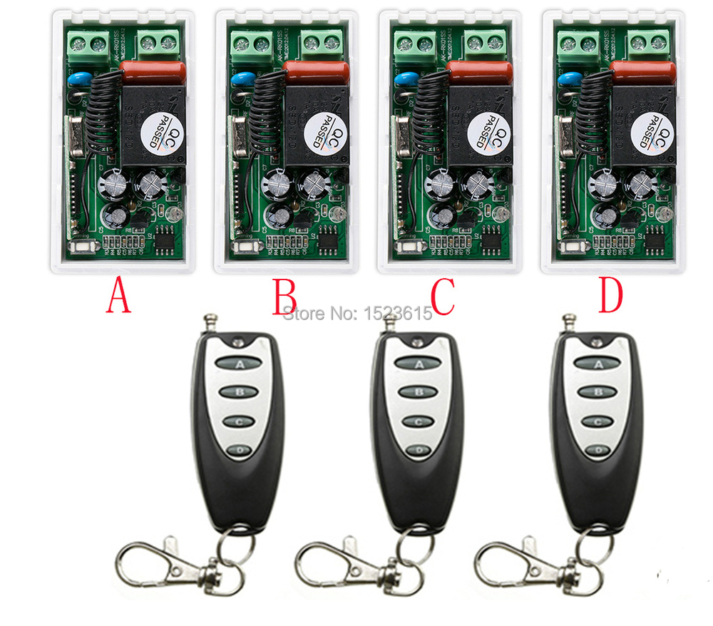 New RF Wireless Remote Controller Relay Switch System AC220V 1CH 4pcs Receiver& 3pcs Transmitter Toggle Momentary oem et lab10 projector lamp bulb for panasonic pt lb10 pt lb10u pt lb10s pt lb20 pt u1s87 pt u1x67 pt u1x87
