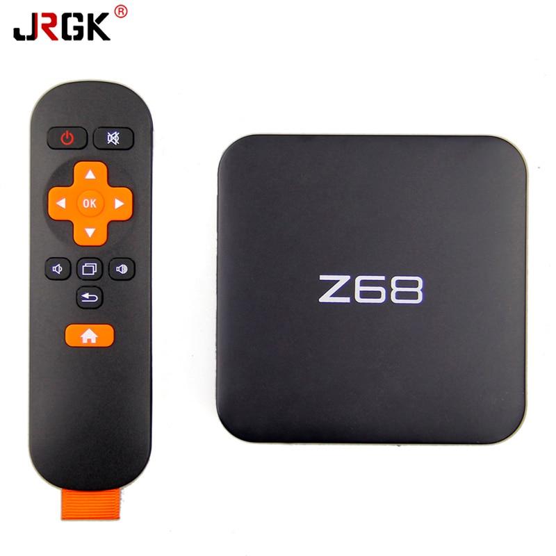 JRGK Z68 Android 5.1 TV Box 2GB 16GB WiFi Gigabit LAN UHD 4K*2K RK3368 Octa-Core 64 Bits Mini PC Kodi /DLNA Smart Media Player zidoo x6 pro mini pc android 5 1 tv box rk3368 octa core 2gb 16gb gigabit ethernet hdmi 4k kodi 16 0 aluminium eurpean iptv box