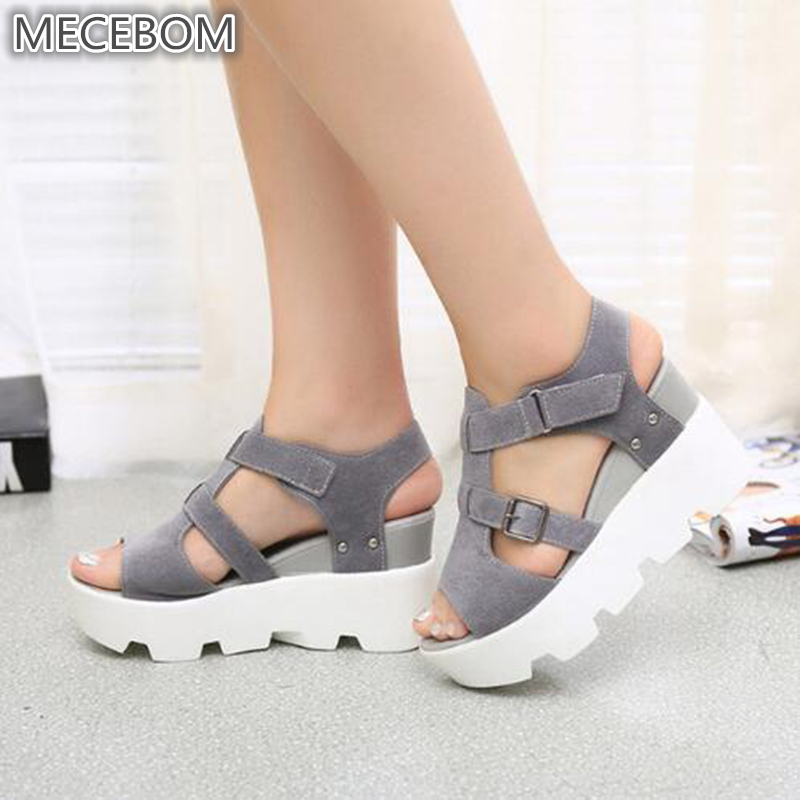 2018 Summer Sandals Shoes Women High Heel Casual Shoes footwear flip flops Open Toe Platform Gladiator Sandals Women Shoes Y48W mvvjke summer women shoes woman genuine leather flat sandals casual open toe sandals women sandals