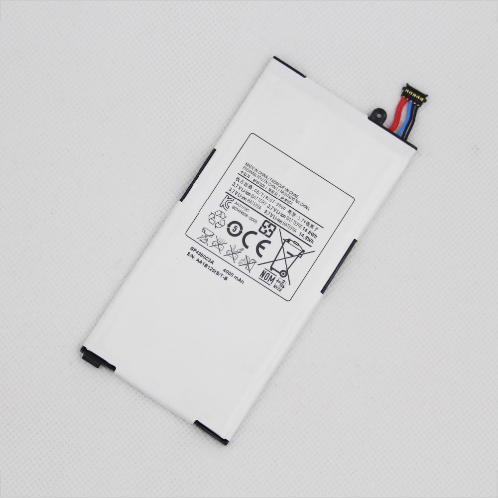 2pcs/lot 4000mAh SP4960C3A Tablet Battery For Samsung <font><b>GALAXY</b></font> <font><b>Tab</b></font> <font><b>GT</b></font> <font><b>P1000</b></font> P1010 Rechargeable internal replacement Batteries image