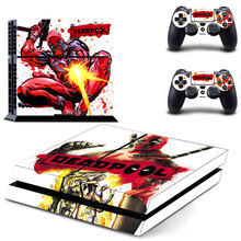 PS4 sticker skin Deadpool for Sony PlayStation 4 Console and 2 controller skins