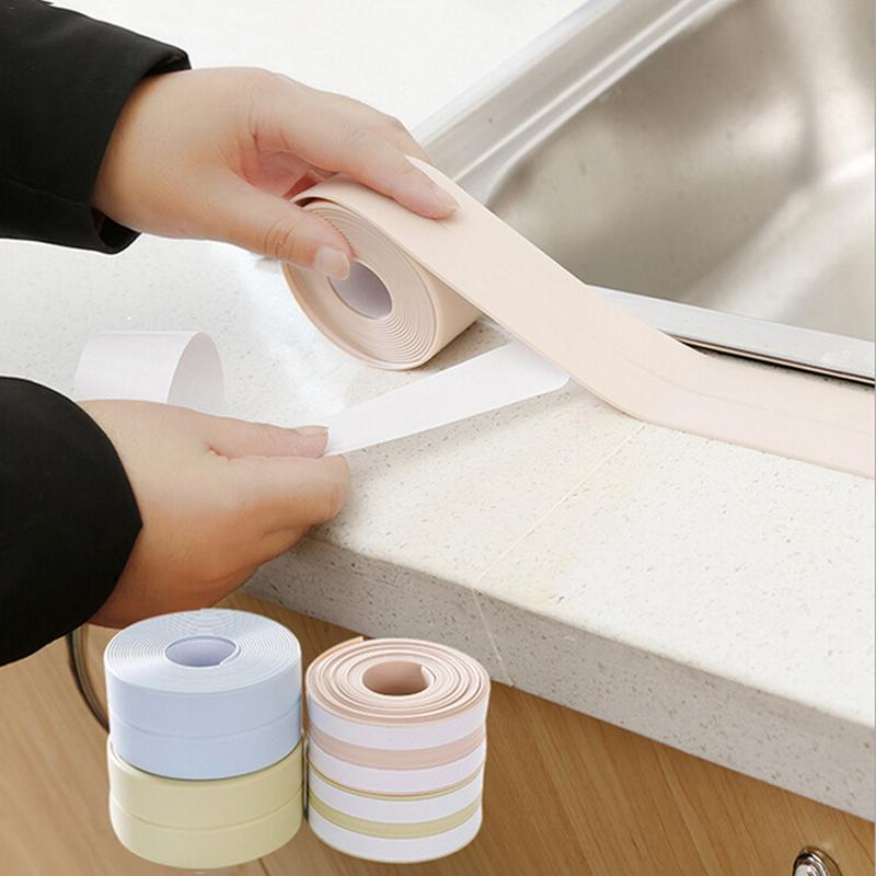 Kitchen Living Room Waterproof Corner Lining Anti-collision Adhesive Tape Moisture Mildew Proofing Line Stickers