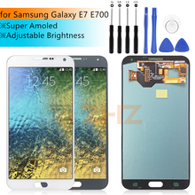 Süper AMOLED samsung LCD Galaxy E7 lcd ekran dokunmatik ekranlı sayısallaştırıcı grup E700 E700F E7000 E7009 Yedek Parçalar
