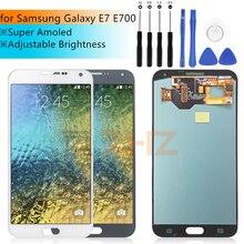 Super AMOLED LCD Per Samsung Galaxy E7 Display LCD Touch Screen Digitizer Assembly E700 E700F E7000 E7009 Parti di Ricambio