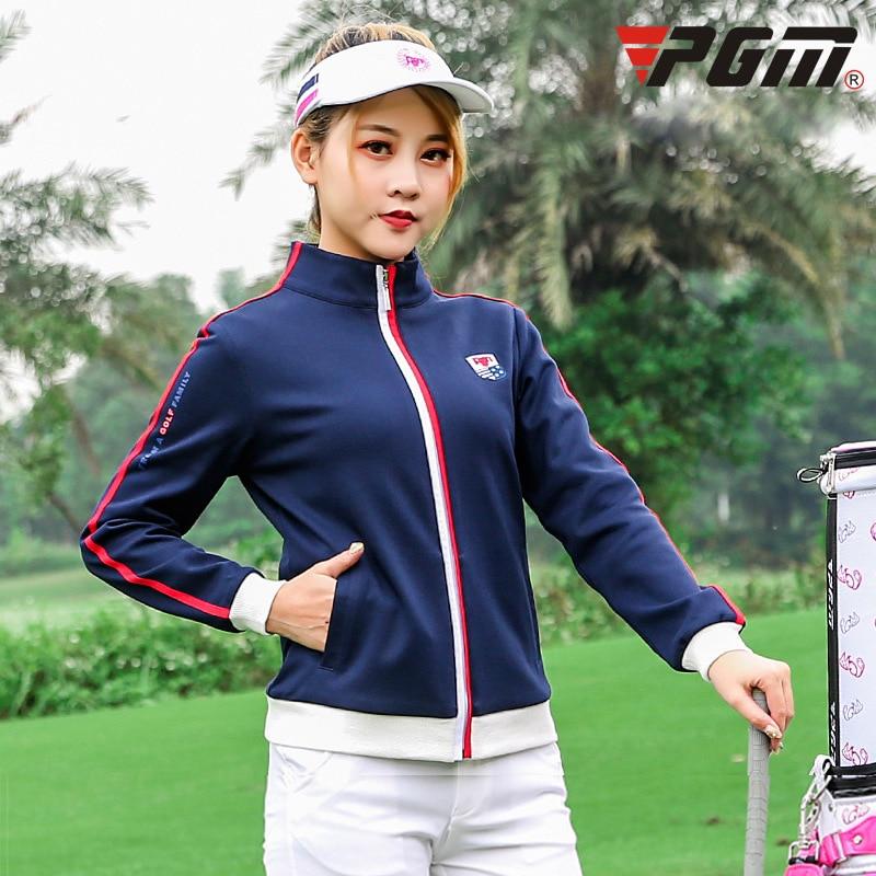 PGM golf golf apparel autumn winter windbreaker women's sports jacket long sleeved garment tops