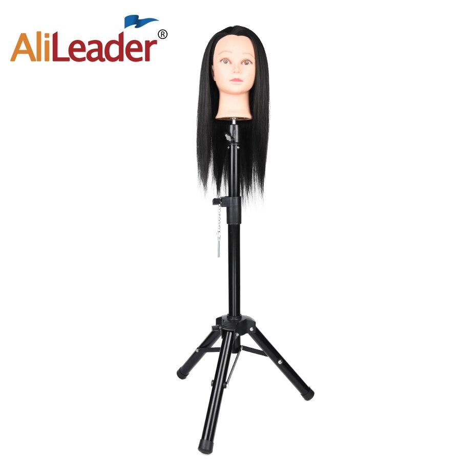 AliLeader Stronger Treppiede Regolabile Testa di Manichino Stand 70 cm-125 cm Treppiede Parrucca Del Basamento Del Treppiedi Per La Produzione di Parrucca di Capelli strumenti di formazione