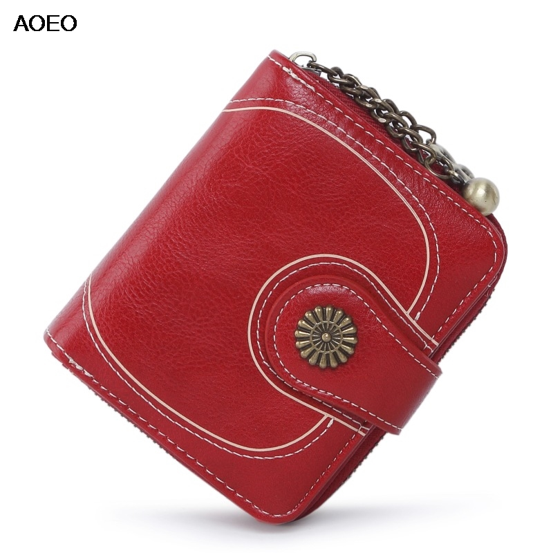 AOEO Mini Wallets Coin Purse Woman Small Bag Money Bag Card Holder Wallet Female Little Zipper Pouch Vintage Purse For Girls in Coin Purses from Luggage Bags