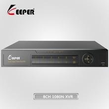 Хранитель 8-канальный 1080N AHD Full HD 5 в 1 Hybrid DVR Рекордеры для видеонаблюдения Поддержка TVI CVI AHD CVBS IP Камера