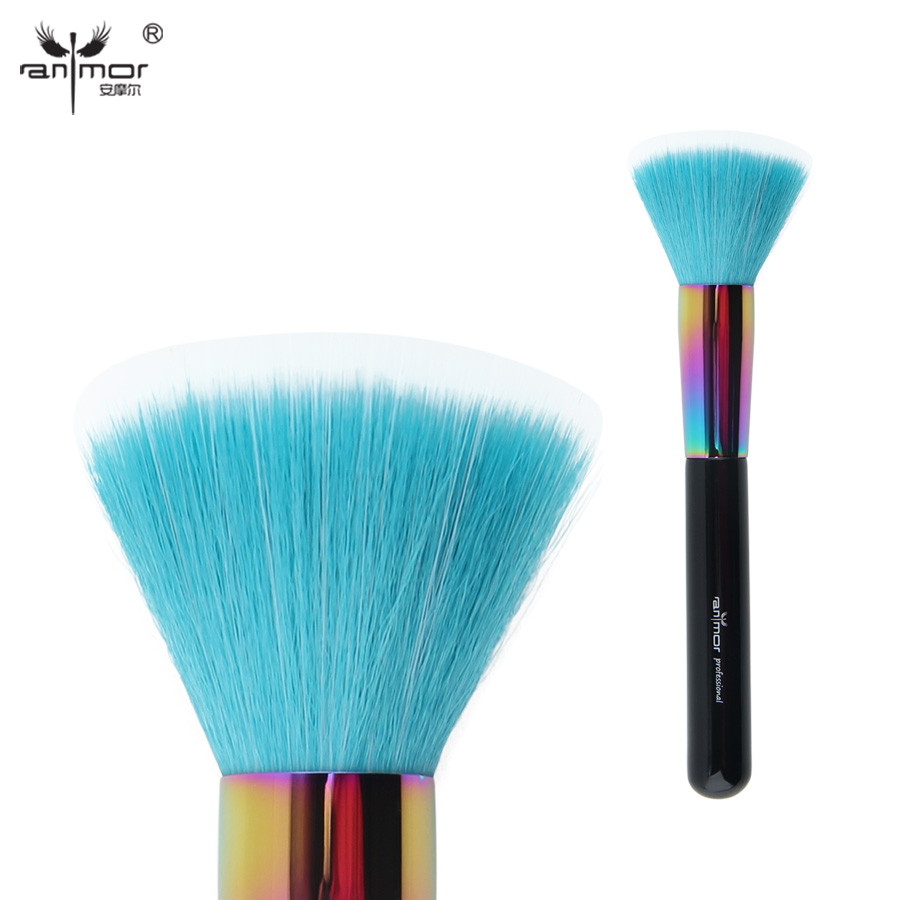 Anmor Colorful Duo Fibre Brush Professional Multipurpose Makeup Brushes For Powder Blusher Cosmetics CFCA-A02
