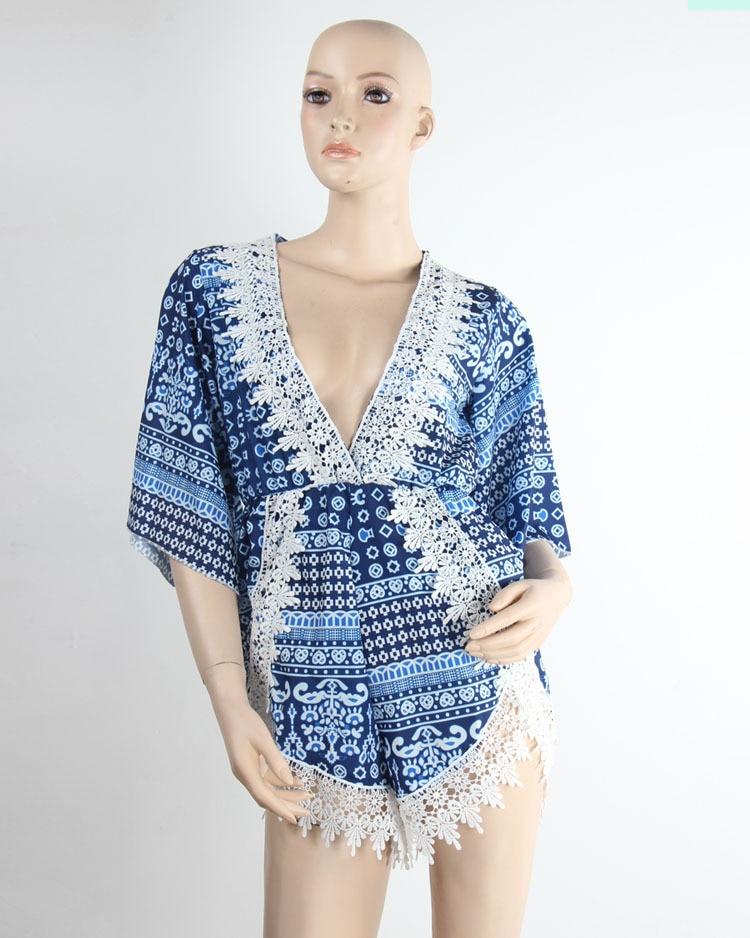 c5c6d1e42e Summer Style Women 9 Styles V Neck Irregular Crochet Beach Jumpsuit Short  Sexy Stitching Lace Playsuits Ladies Romper Jumpsuits