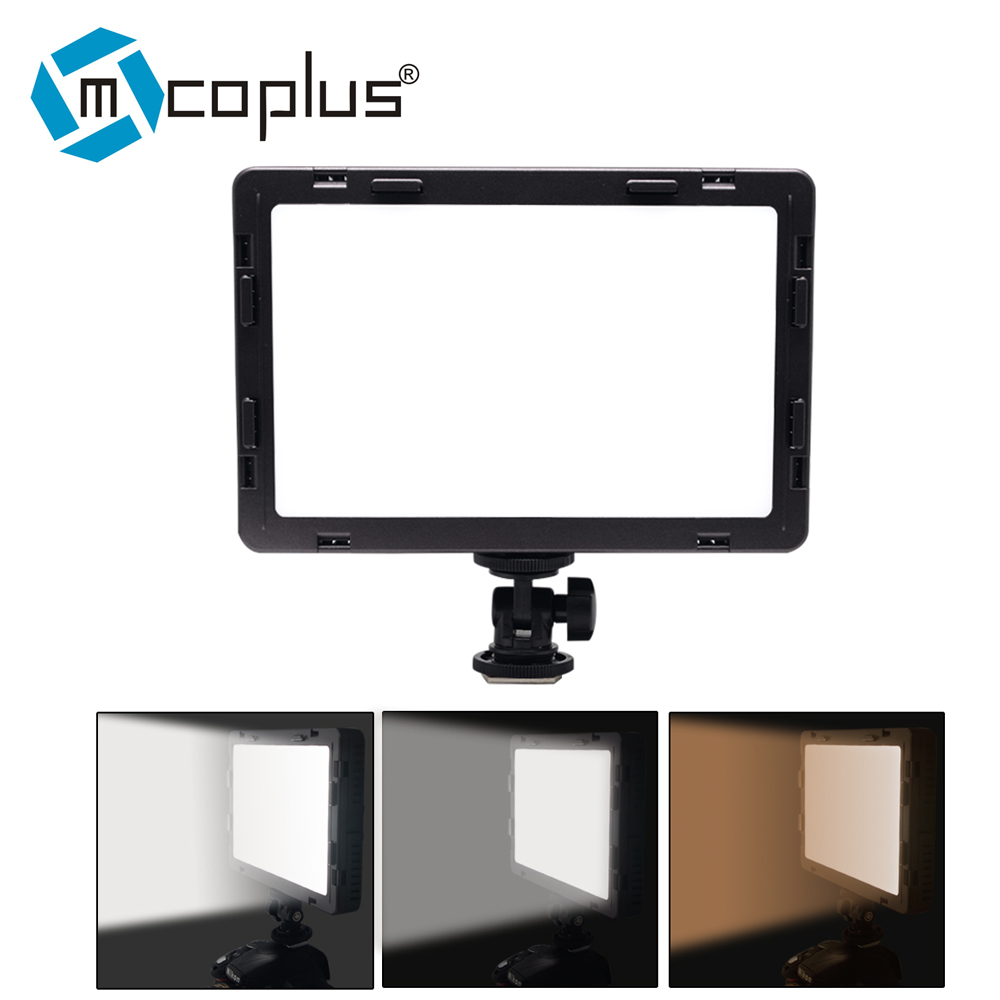Mcoplus Air-1000B LED Video Light pockable CRI 95 Display Bi-Color & Dimmable Slim DSLR for Canon Nikon Pentax Panasonic Sony Sa mcoplus air 1000b led video light pockable cri 95 display bi color