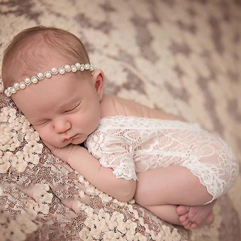 (klv) 2017 Baby Leuke Romper Overall Pixie Kant Pasgeboren Fotografie Props Prinses Meisje Apr5_17 Compleet In Specificaties