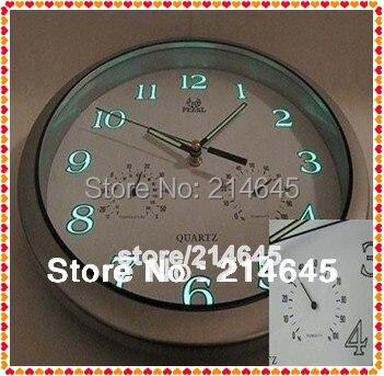 J14 mute sweet movements and TB luminous wall clocks with temperature and humidity indicator luminova wall clock