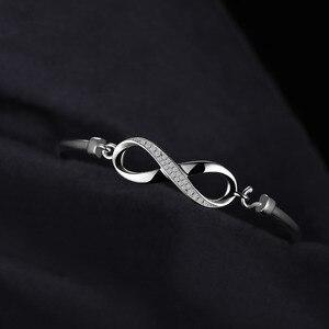 Image 3 - Jewelrypalaceクラウン無限の愛 925 純銀製の腕輪女性のためのシルバー 925 ジュエリーメイキングオーガナイザー
