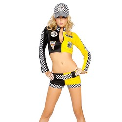 Hot race car costumes uniforms sexy race car driver halloween costumes women 2piece crop top with.jpg 250x250