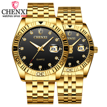 CHENXI Brand Couple Watches Quartz Lovers Wristwatches For M