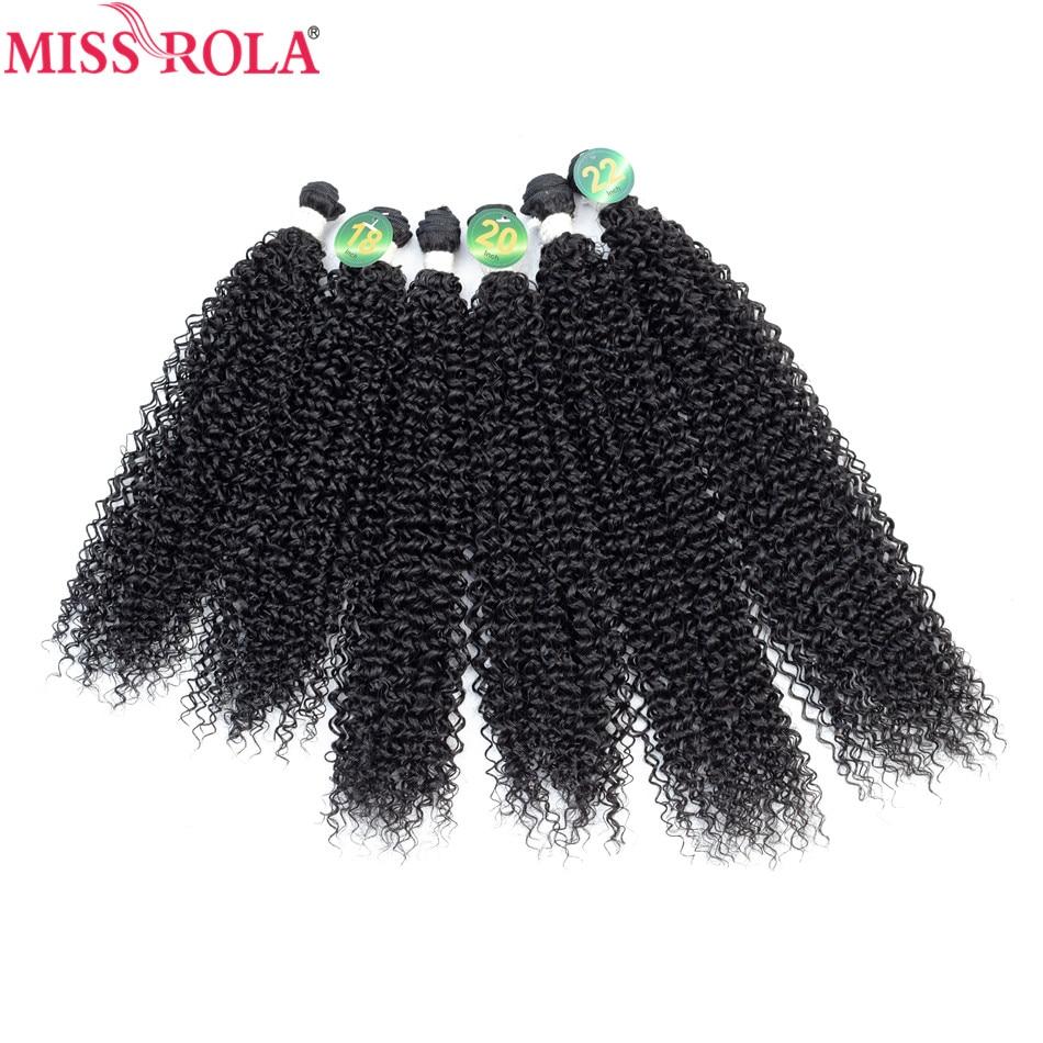 Miss rola extensões de cabelo encaracolado kinky