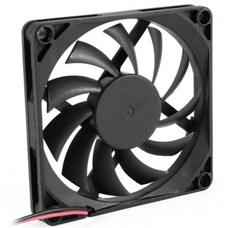 New 80mm 2 Pin Connector Cooling Fan for Computer Case CPU Cooler Radiator Computer Accessories CPU Cooling Fans P2 12v 2 pin 55mm graphics cards cooler fan laptop cpu cooling fan cooler radiator for pc computer notebook aluminum gold heatsink