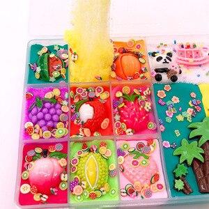 Image 3 - פנדה יום הולדת מסיבת צבעוני לערבב ענן רפש רטוב חמוד פירות פרוס אביזרי נמתח קסם רפש ילדי הקלה לחץ מתנה