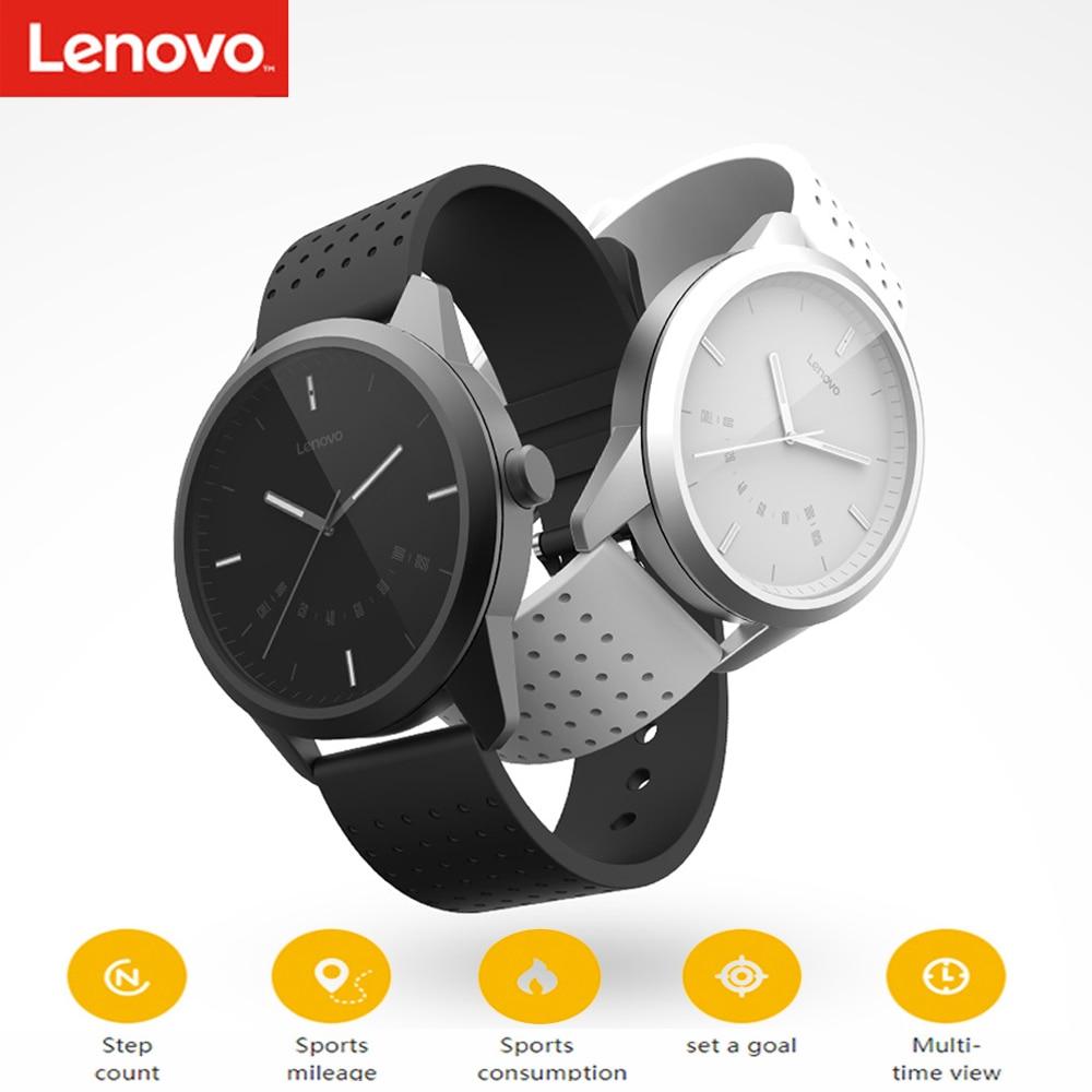 Lenovo Relógio 9 Bluetooth Smartwatch Sono Alarme Lembrete Monitor de Rastreador De Fitness 50 m À Prova D' Água Relógio Inteligente Para IOS Android
