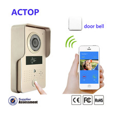 Free Shipping!!New WiFi video door phone wifi doorbell ID Card Unlock video intercom with door release+wireless door bell camera
