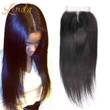 8A Brazilian Straight Lace Closure Bleached Knots 4×4 Cheap Virgin Human Hair Lace Closure Free Middle 3 Part Top Lace Closures