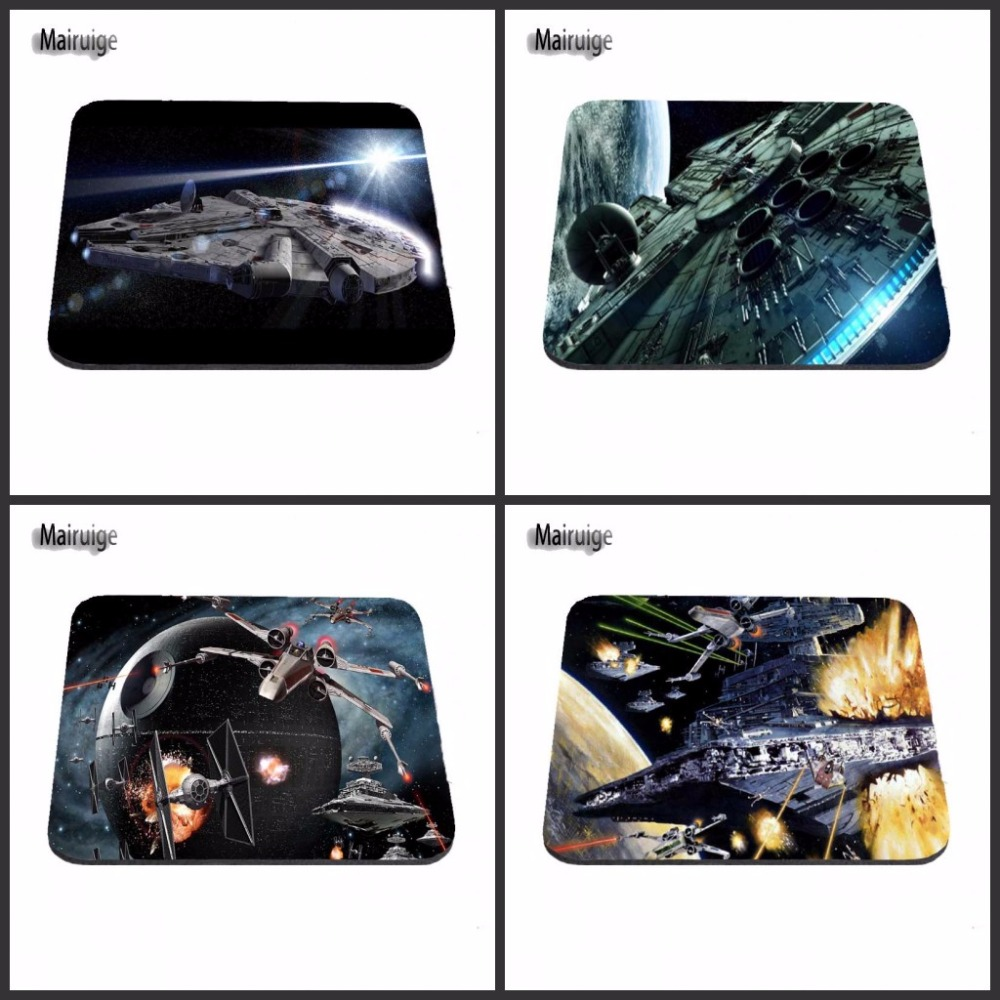 Mairuige Customization Star Wars Unique Design Rubber Gaming Mouse Mat Design for PC Optical Mouse Trackball 18*22cm and 25*29cm