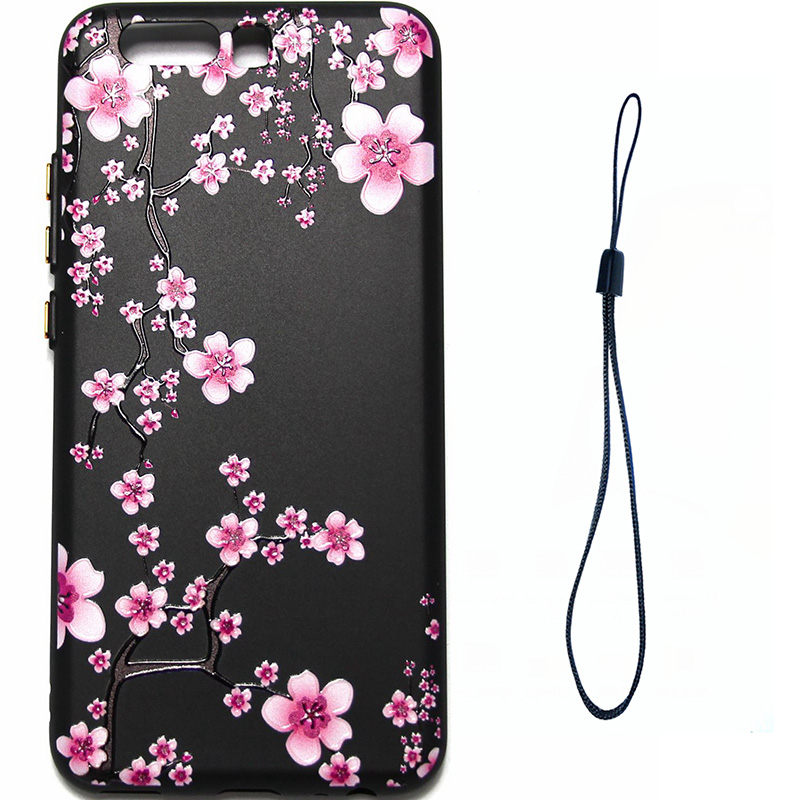 3D Relief flower silicone  case huawei p10 (2)