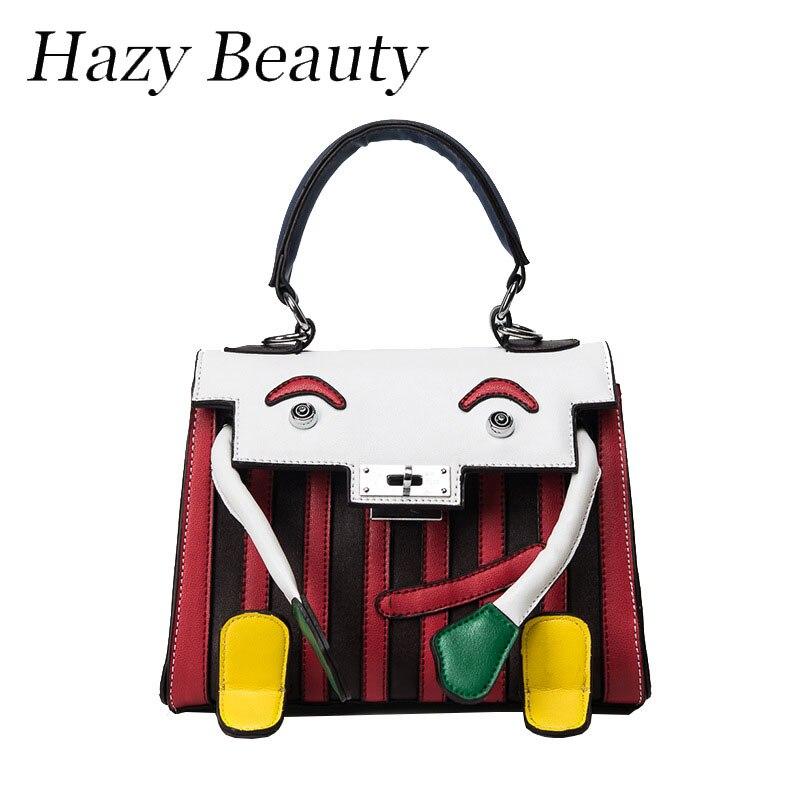 ФОТО Hazy beauty New funny panda monster women handbag super chic new lady cross body hot girls patchwork messenger bags good DH528
