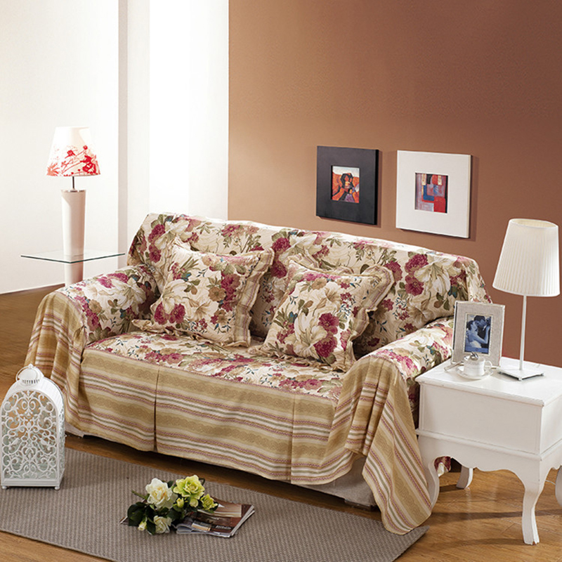 Cotton Sofa Towel Single Two Three Four Seater Covers Slip Resistant Couch Cover For Living Room Flower Bed Home Decor