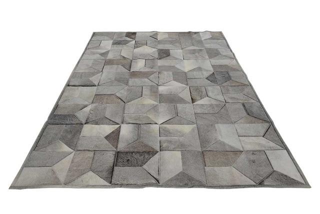 Taupe Grau Leder Bereich Teppich Umschlag Design No 1 290