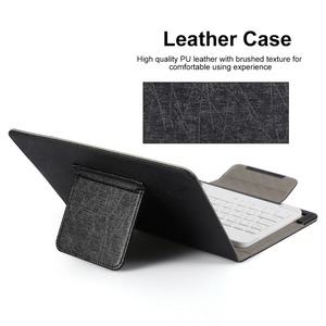 Image 5 - Wireless Bluetooth Keyboard for Tablet PU Leather Case Stand Cover For Pad 7 8 inch 9 10 inch for IOS Android Windows