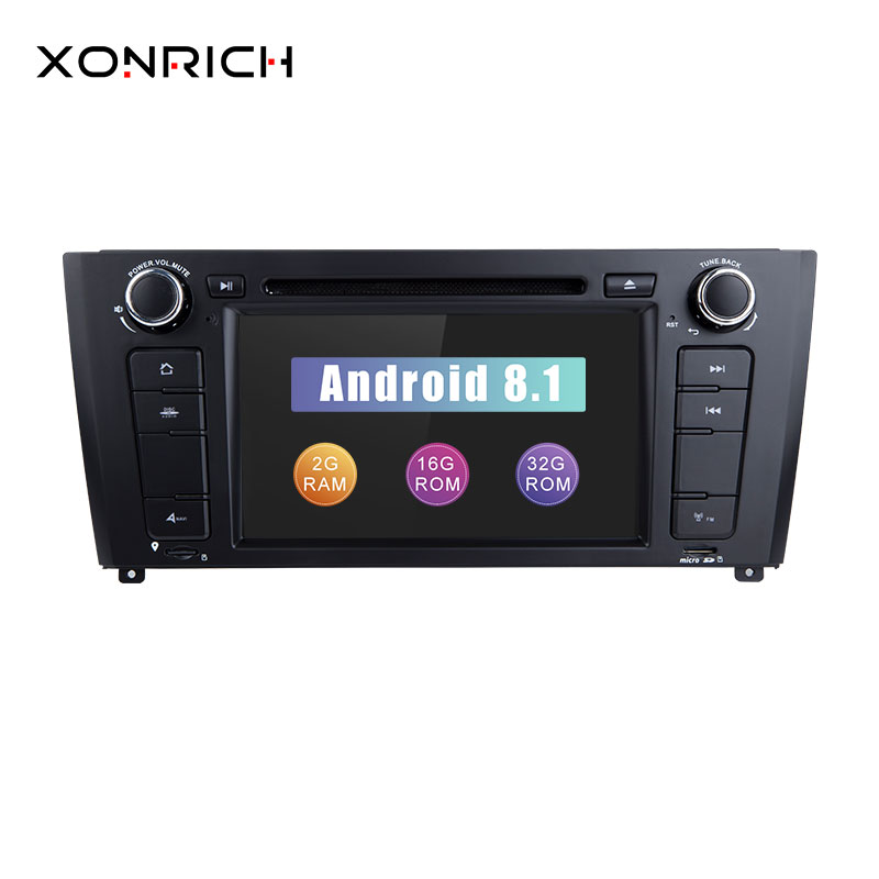 Xonrich AutoRadio 2 Din Android 8.1 Car DVD Player For BMW E87 BMW 1 Series E88 E82 E81 I20 GPS Navigation Audio 4G Wifi DAB+BT