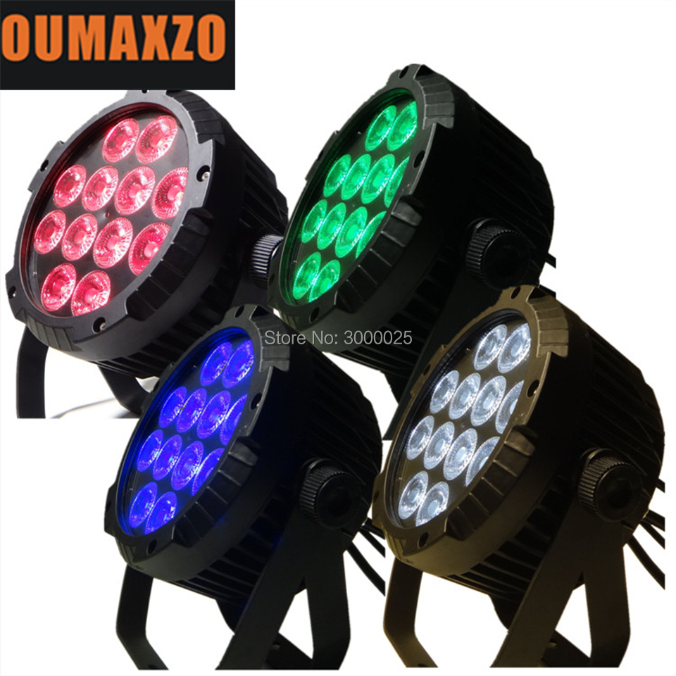 4pcs/lot 12pcs 18W RGBWA+UV 6in1 LED uplight led par wash light night club dj disco lights LED mini par can 6in1 RGBAW+UV 12pcs