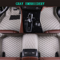 Car Floor Mats For Fiat Bravo 2008 2017 Foot Carpets pad mat Step Embroidery Leather Car Interior Mats heavy duty carpet floors