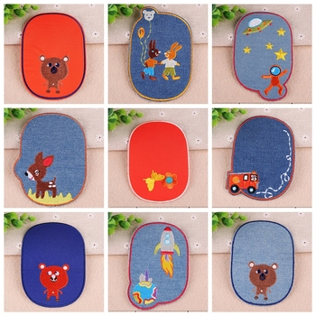 1PCS 2019 New Fun Cartoon Childlike Animal Patches Iron on Embroidery Cloth DIY Clothing Decoration Coat Shoes Accessories image
