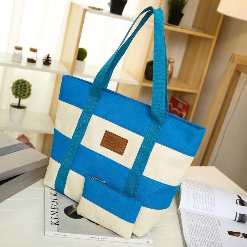 Cheap Women Canvas Bags Beach Handbags High Quality Canvas Casual Tote Bags Shoulder Bags Women Bag Female Bolsa Feminina