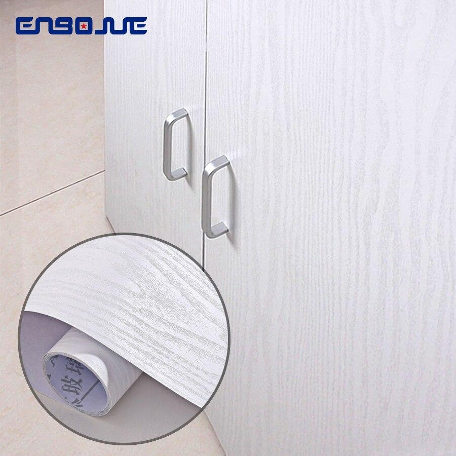 0.4x5M Vinyl Wood Self Adhesive Wallpaper PVC Waterproof Living Room TV Cabinet Home Decor Furniture Wardrobe Door Wall Stickers