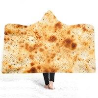 Burrito Tortilla de Milho Cobertor de Flanela Cobertor Com Capuz 3D na Cama Sofá Lance Fleece Colchas Têxteis Para o Lar De Pelúcia Engraçado Dropship