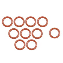 10 Pcs 16mm OD 2.5mm Thickness Silicone O Ring Oil Seals Gaskets Dark Red