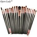 Pro 20 unids Ojo Cepillos Cepillos Cosméticos Maquillaje Soft Polvos Sombra de Ojos Delineador de Labios Cepillo Kit de maquillaje Cepillo conjuntos